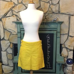 J. Crew yellow skirt